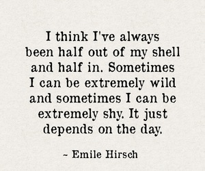 day, shy, and emile hirsch image
