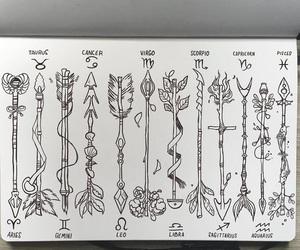 arrow, art, and drawing image