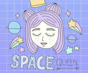 wallpaper, space, and Queen image