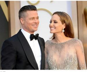 Angelina Jolie, couple, and brad pitt image