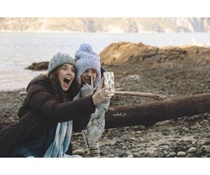 behind the scenes, before i fall, and zoey deutch image