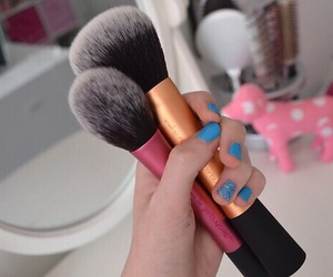 Brushes, love, and makeup image