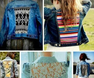 jacket, diy, and jeans image