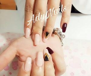 black, long nails, and nail art image
