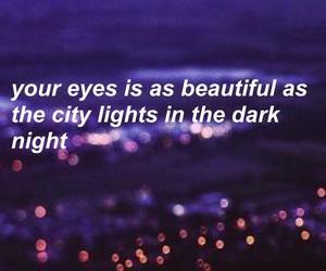 blue, city lights, and Lyrics image