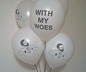 Drake, balloons, and aesthetic image