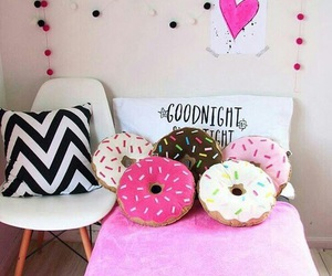 donuts, pink, and room image
