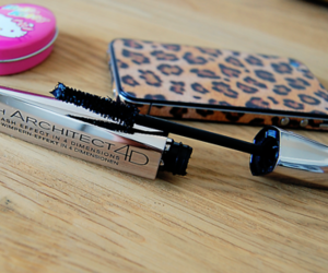 mascara, iphone, and hello kitty image