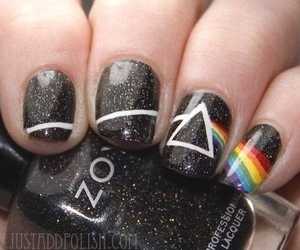 nails, black, and Pink Floyd image