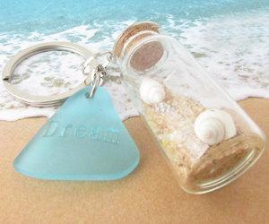 etsy, beach glass keychain, and beach bottle keychain image