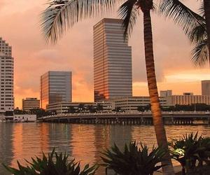 sunset, city, and orange image