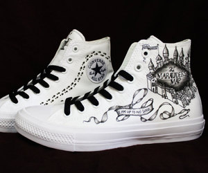canvas, converse, and deathly hallows image
