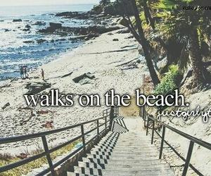 beach, summer, and walk image