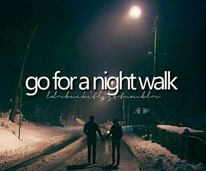 walk and night image