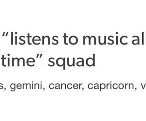 music, gemini, and cancer image