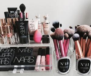 cosmetics, gimme brow, and lip gloss image