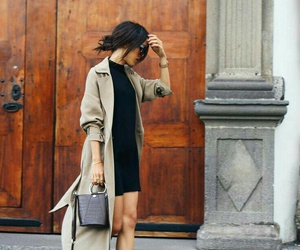 coat, cold, and dress image