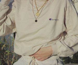 beige, champion, and chains image