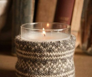 candle, books, and autumn image