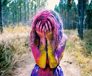 colour, girl, and nature image