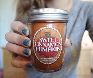 candle, pumpkin, and tumblr image
