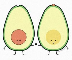 cuddle, avocado, and sweet image