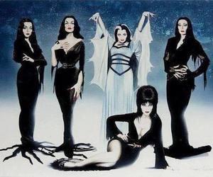 elvira, morticia, and Vampira image
