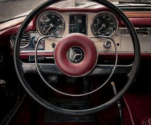 car, mercedes, and vintage image