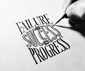 quotes, failure, and progress image