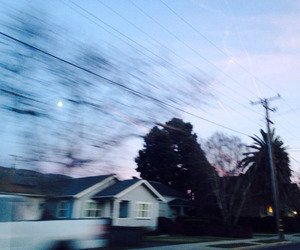 sky, grunge, and house image