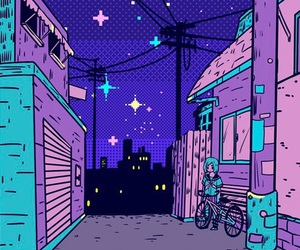 wallpaper, purple, and night image