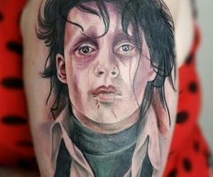 johnny depp, tattoo, and edward scissor hands image