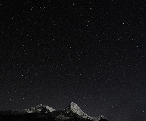 cosmic, stars, and mountains image