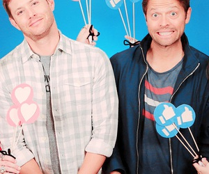 Jensen Ackles, misha collins, and cockles image