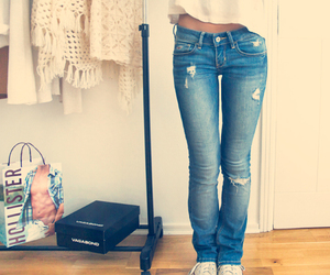 jeans, hollister, and clothes image