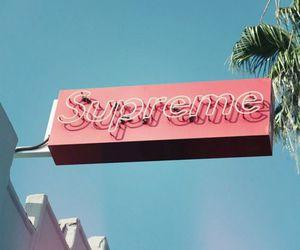 pink, supreme, and teal image