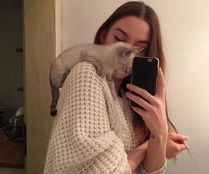 girl, cat, and indie image