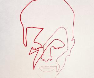 art, david bowie, and portrait image