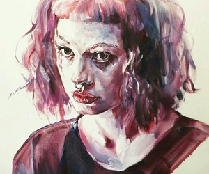 aesthetic, girl, and watercolour image