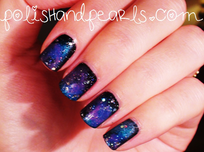 How To Galaxy Nails Polish And Pearls On We Heart It