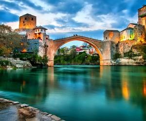 mostar, beautiful, and bridge image
