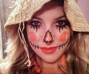 Halloween, makeup, and scarecrow image