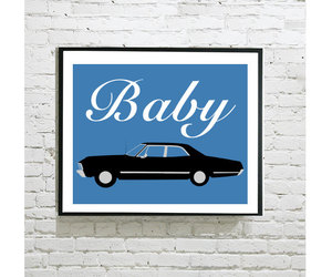 baby, dean winchester, and etsy image