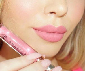 pink, makeup, and style image