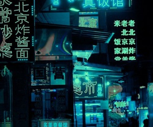 asian, neon lights, and alternative image