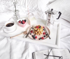 bed, breakfast, and food image