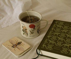 book and tea image