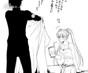 girl, naruto, and sasuke image