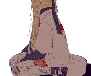 naruto, sasuke, and kunoichi image