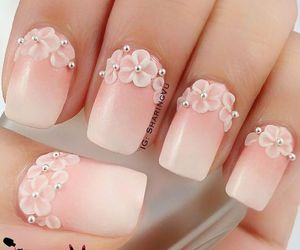 nails, flowers, and 3d image